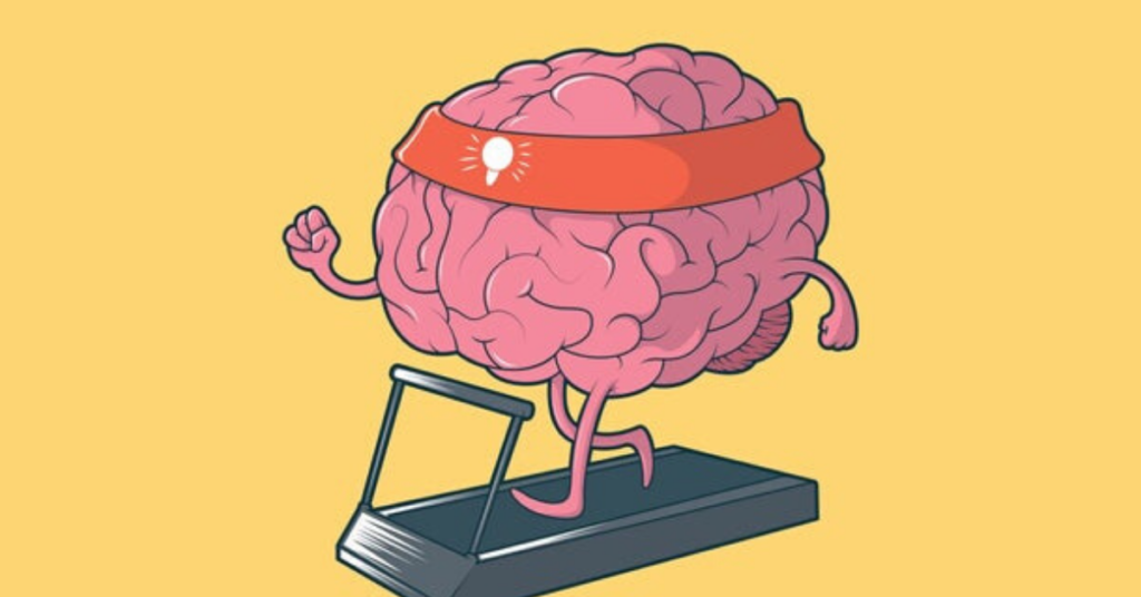 The Brain running on Treadmill to Switch on its Thinking Bulb